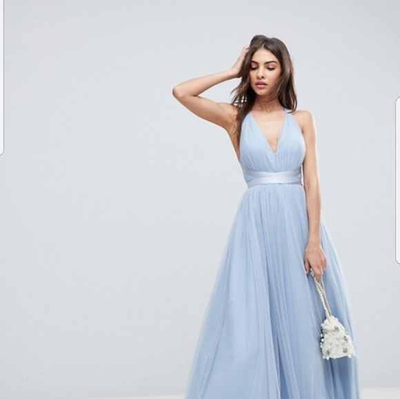 9d153a65f972 ASOS Dresses & Skirts - ASOS PREMIUM Tulle Maxi Prom Dress with Ribbon Tie